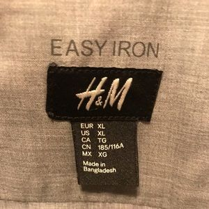 H&M XL slim Fit Gray Casual Style